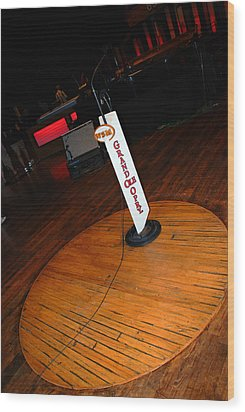 Piece Of The Original Old Stage At The Grand Ole Opry In Nashville Wood Print by Susanne Van Hulst