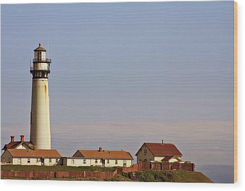 Pigeon Point Lighthouse On California's Pacific Coast Wood Print by Christine Till