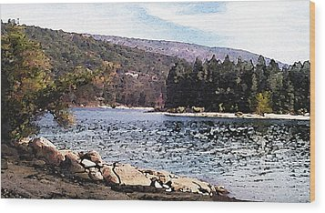 Pine Point Bass Lake Larry Darnell Wood Print by Larry Darnell