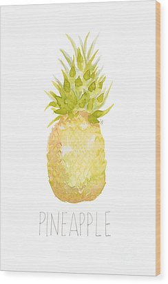 Pineapple Wood Print by Cindy Garber Iverson