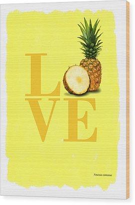 Pineapple Wood Print by Mark Rogan
