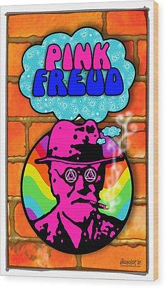Pink Freud Wood Print by John Goldacker