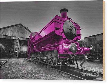 Pink Pannier  Wood Print by Rob Hawkins