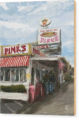 Pinks Wood Print by Russell Pierce