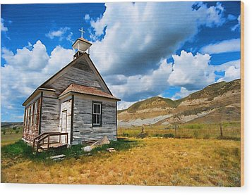 Pioneer Church 1 Wood Print by Lawrence Christopher