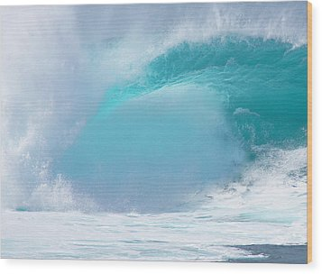 Pipeline First Reef Wood Print by Kevin Smith
