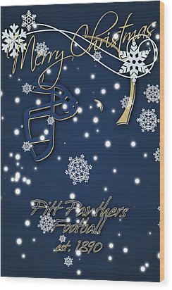 Pitt Panthers Christmas Cards Wood Print by Joe Hamilton