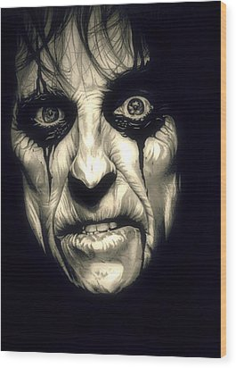 Poison Alice Cooper Wood Print by Fred Larucci