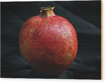 Pomegranate Wood Print by Terence Davis