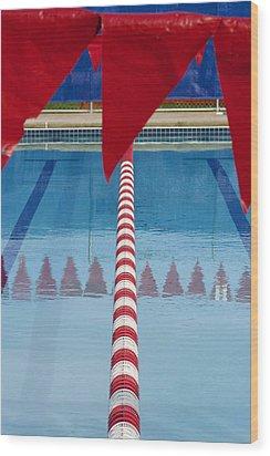 Pool Wood Print by Skip Hunt