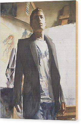 Portrait Of A Prodigy Wood Print by Douglas Trowbridge