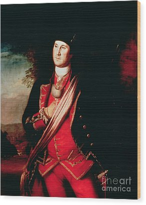 Portrait Of George Washington Wood Print by Charles Willson Peale