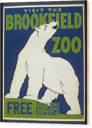 Poster For The Brookfield Zoo Wood Print by Unknown