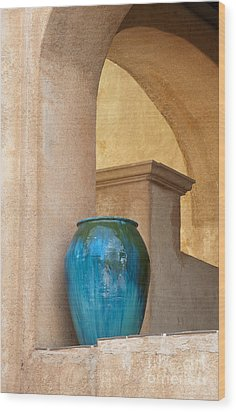 Pottery And Archways Wood Print by Sandra Bronstein