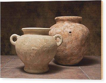 Pottery I Wood Print by Tom Mc Nemar