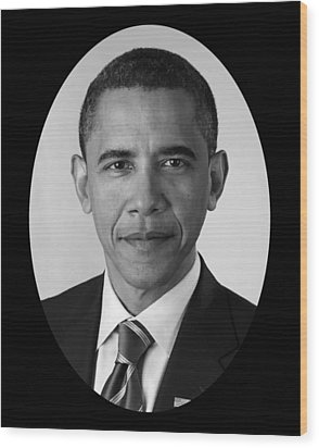 President Barack Obama Wood Print by War Is Hell Store