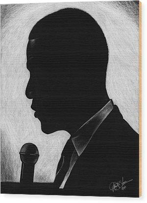 Presidential Silhouette Wood Print by Jeff Stroman