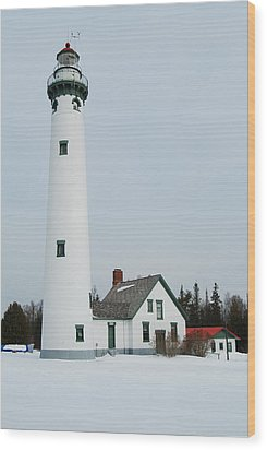 Presque Isle Lighthouse Wood Print by Michael Peychich