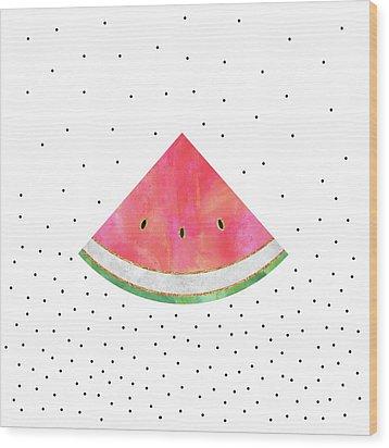 Pretty Watermelon Wood Print by Elisabeth Fredriksson