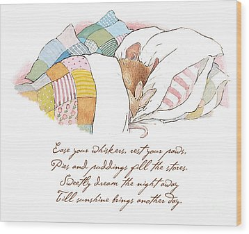 Primrose Goes To Sleep Wood Print by Brambly Hedge