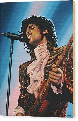 Prince Painting Wood Print by Paul Meijering
