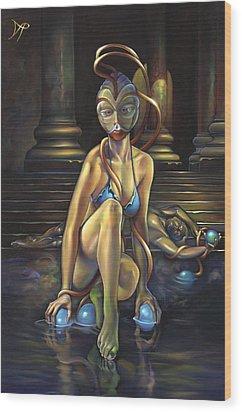 Princess Dejah Thoris Of Helium Wood Print by Patrick Anthony Pierson