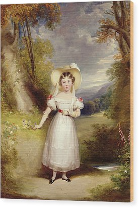 Princess Victoria Aged Nine Wood Print by Stephen Catterson the Elder Smith