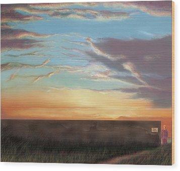 Private Sunrise.  Keep Out Wood Print by Albert Puskaric