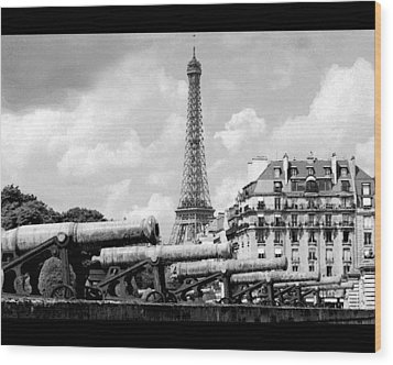 Protecting Paris Wood Print by Don Wolf