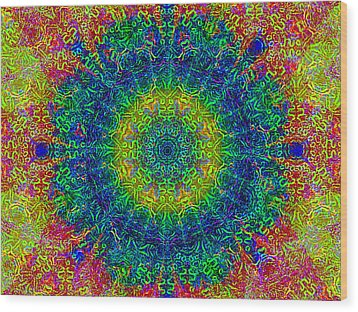 Psychedelicize Wood Print by Bill Cannon