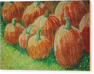 Punkins Wood Print by Jame Hayes