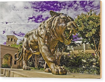 Purple And Gold Wood Print by Scott Pellegrin