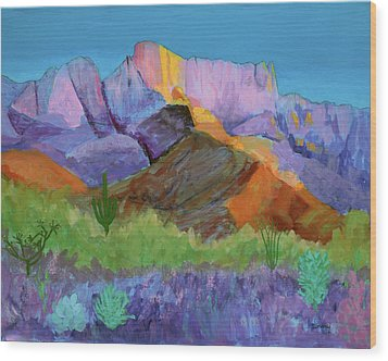 Purple Catalina Wood Print by Mordecai Colodner
