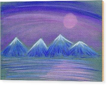Purple Night 3 Wood Print by Hakon Soreide