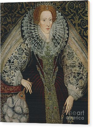 Queen Elizabeth I Wood Print by John the Younger Bettes