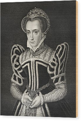 Queen Mary Aka Mary Tudor Byname Bloody Wood Print by Vintage Design Pics