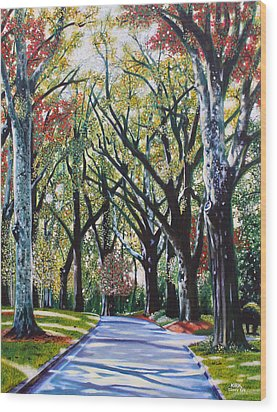 Queens Road West Wood Print by Jerry Kirk
