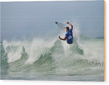 Wood Print featuring the photograph Quiksilver Pro France I by Thierry Bouriat