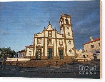 Rabo De Peixe Church Wood Print by Gaspar Avila