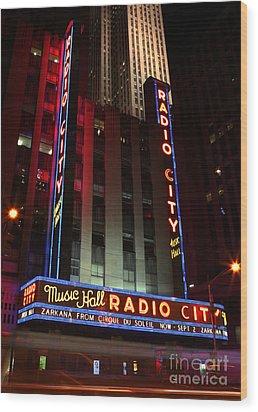 Radio City Music Hall Cirque Du Soleil Zarkana Wood Print by Lee Dos Santos