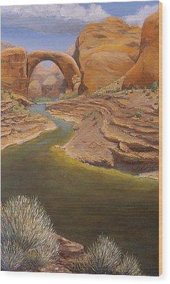 Rainbow Bridge Wood Print by Jerry McElroy