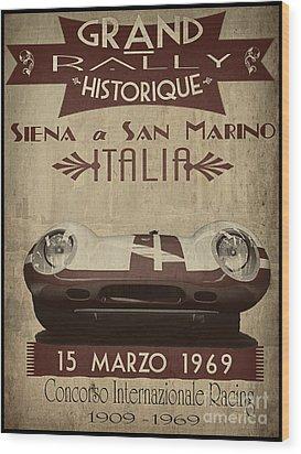 Rally Italia Wood Print by Cinema Photography