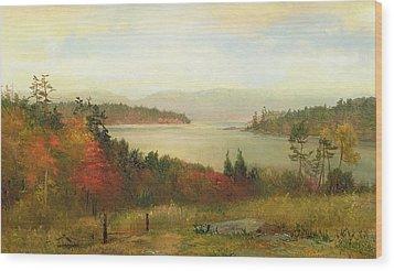 Raquette Lake Wood Print by Homer Dodge Martin