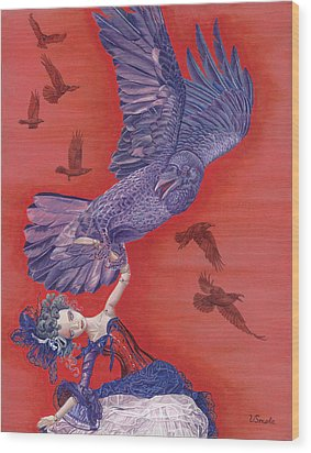 Ravenous Wood Print by Vlasta Smola