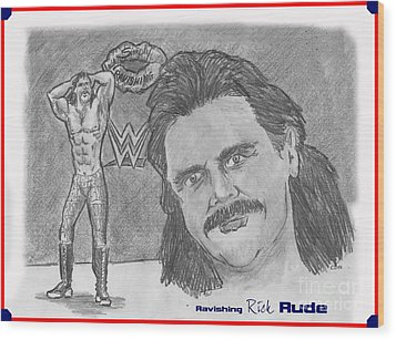 Ravishing Rick Rude Wood Print by Chris  DelVecchio