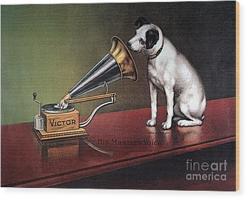 Rca Victor Trademark Wood Print by Granger