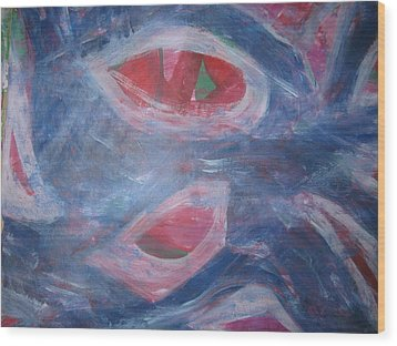 Reality's Impersonal Eye Wood Print by Paula Andrea Pyle