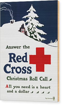 Red Cross Poster, C1915 Wood Print by Granger
