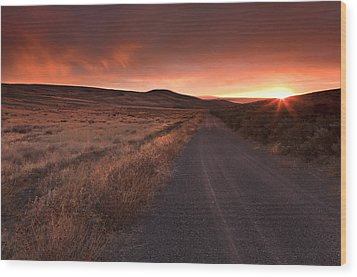 Red Dawn Wood Print by Mike  Dawson