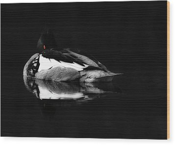 Red Eye Wood Print by Lori Deiter